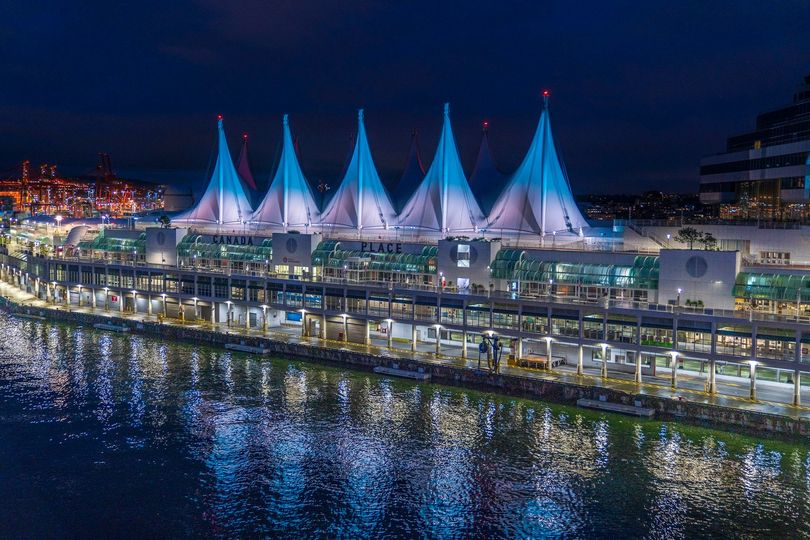 Canada Place Sails of Light Vancouver BC